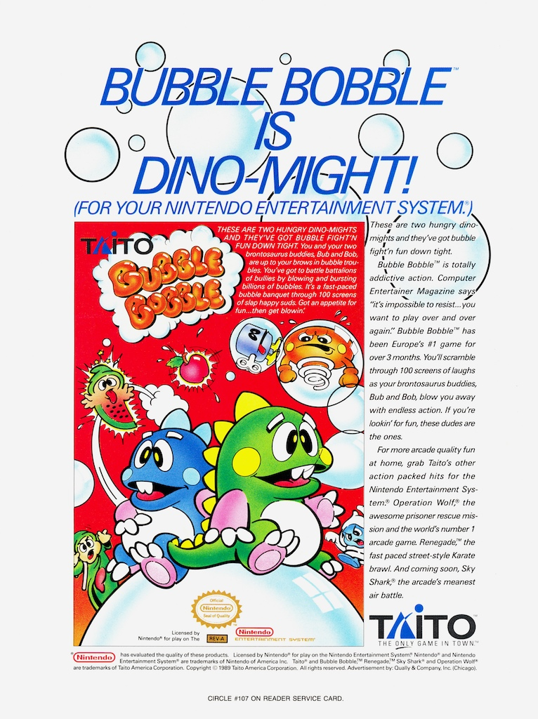 Bubble Bobble in all it's 8-bit glory!