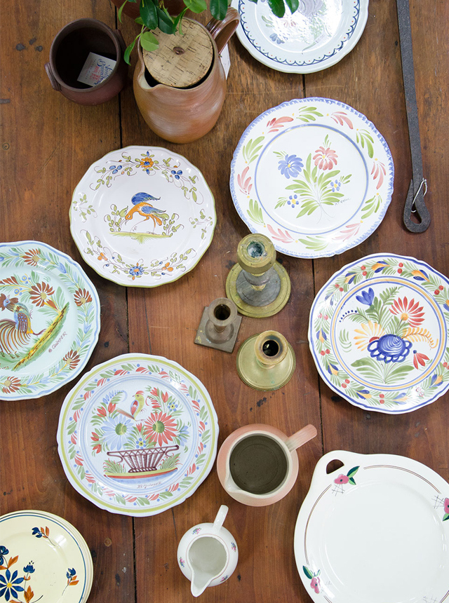 An assortment of French crockery. Photo: Ezra La Vin for Take Your Vitamins