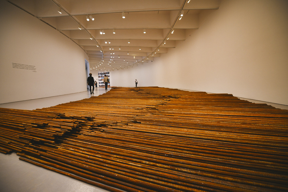 "Ai Weiwei, ""Straight"" (2008-12), steel rebar (38 tons)"