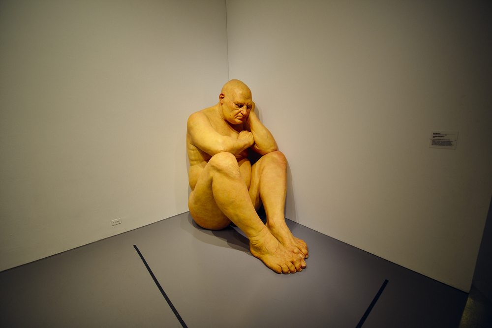 "Ron Mueck's ""Big Man"""