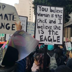womens march LA signs