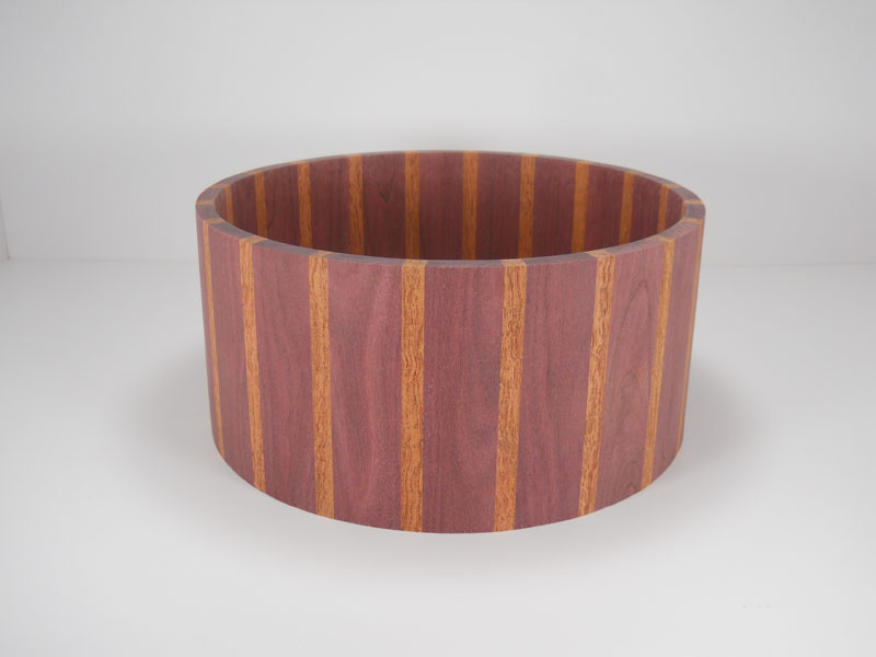 Purpleheart with bubinga stripes 6.5x14