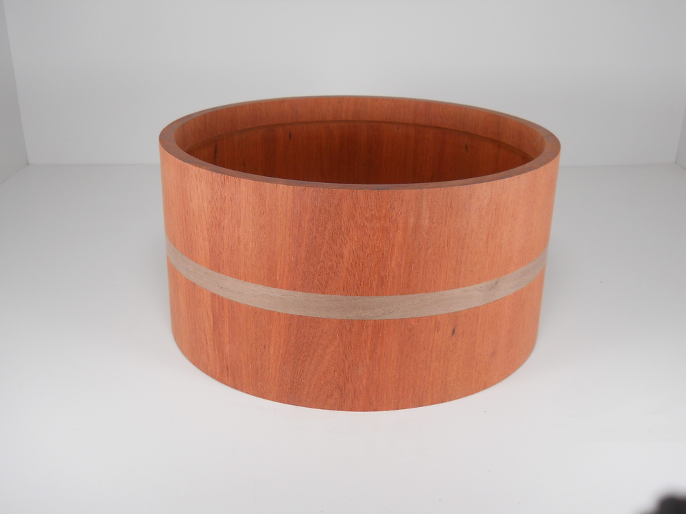 Bloodwood with walnut inlay