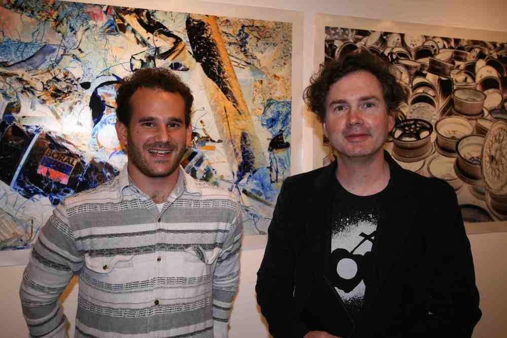 Emilio Cresciani and Michael Fitzgerald at the opening