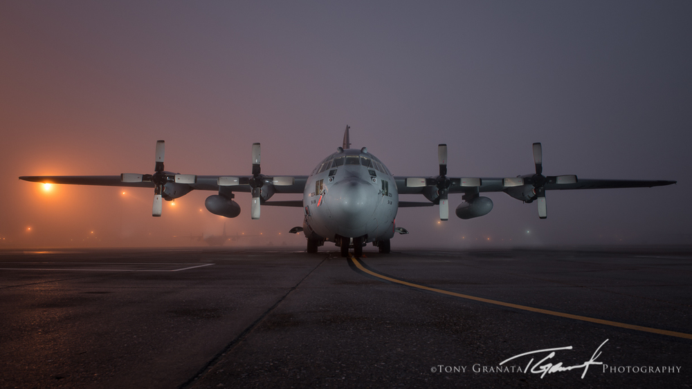 Final image of a 94th Airlift Wing C-130H captured using the Nikon Creative Lighting System (CLS)