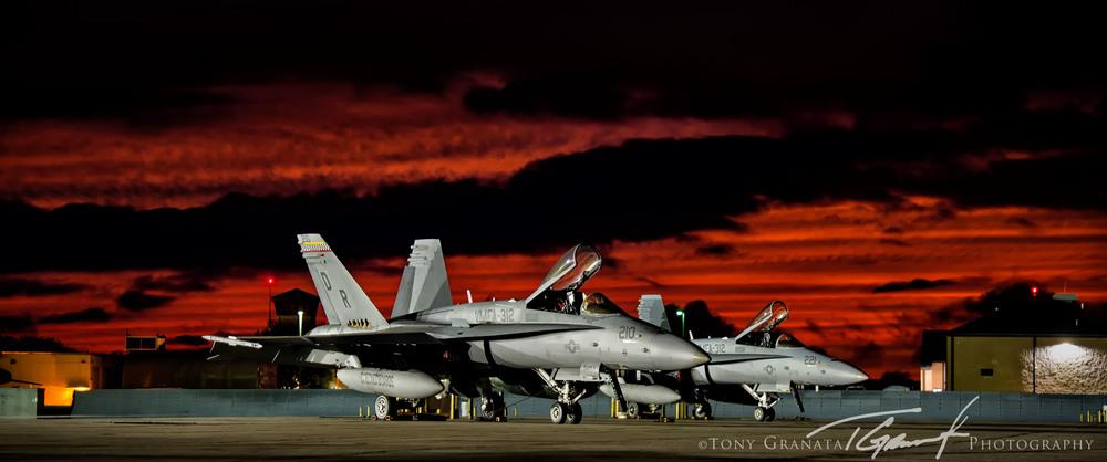 VMFA-312 Checkerboards F/A-18 Hornet @ MCAS Beaufort, SC