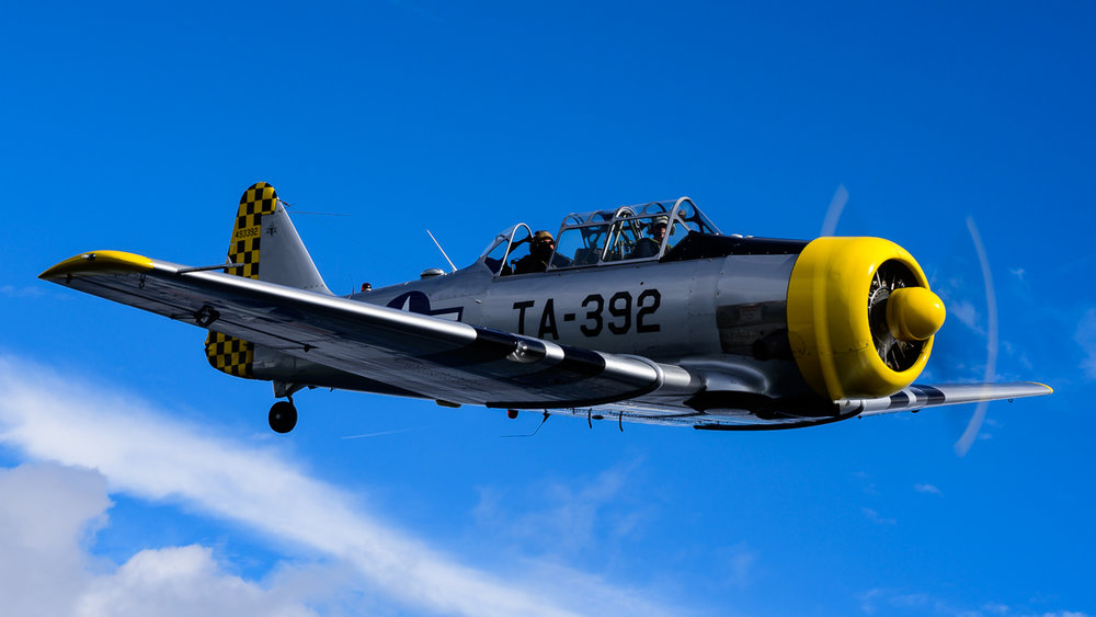 Me, shooting from the backseat of the T-6, captured by our first time air to air photographer using a Z7!