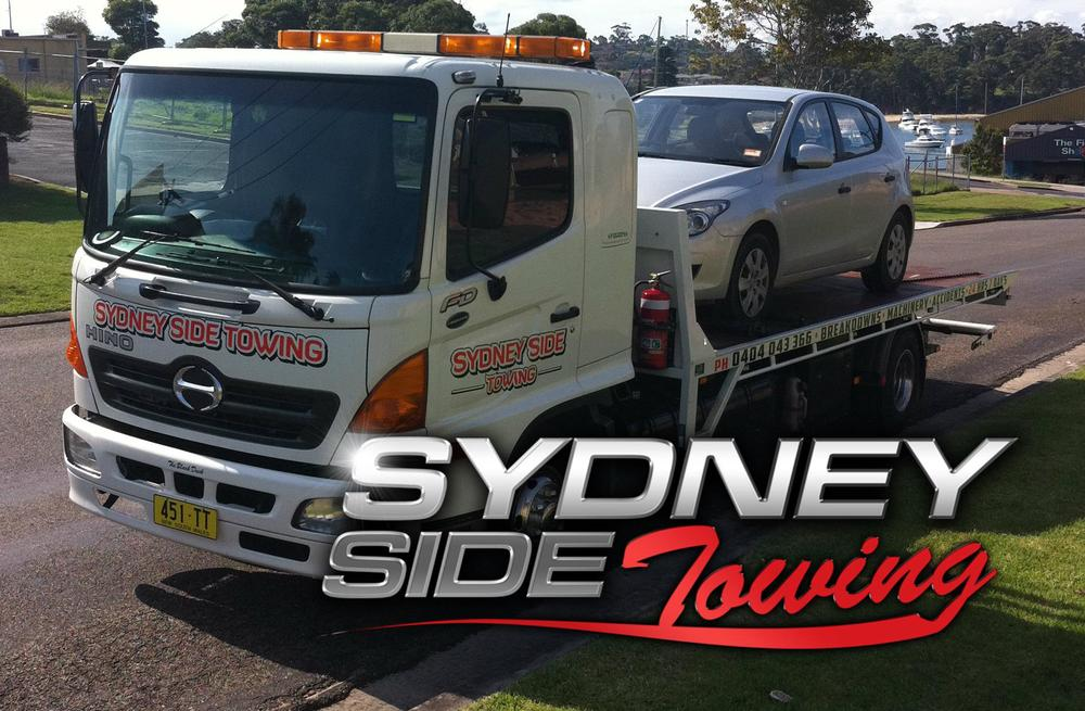 Sydney side towing with logo