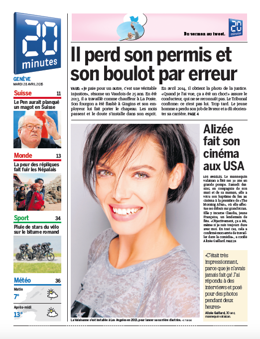 COVER - 20 Minutes - 28 avril 2915 .png