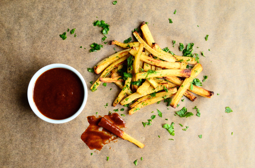 Parsnip Fries + Parsley with Apricot BBQ | Seed Plant Water Grow