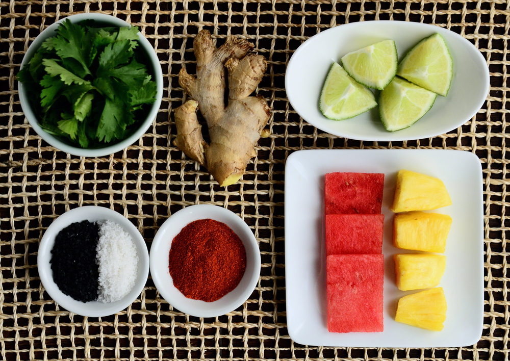 Watermelon Sashimi + Black Sea Salt with Sweet + Spicy Cilantro Dipping Sauce | Seed Plant Water Grow
