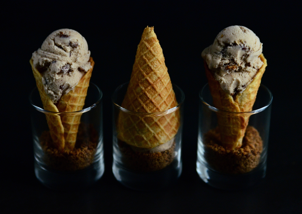 Butter Pecan Coconut Milk Ice Cream{dairy-free} + Mini Waffle Cones with Toasted Pecan Dipper | Seed Plant Water Grow