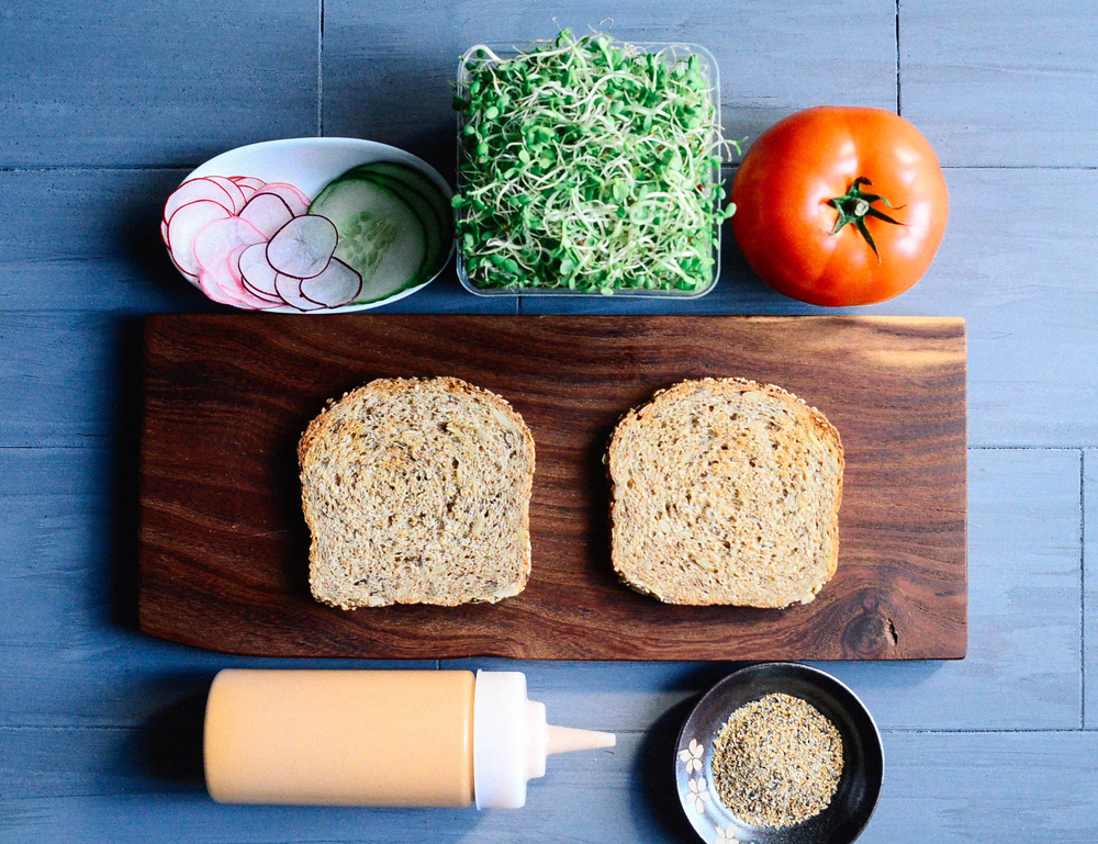 Road Trip Picnic Part 1:  Spicy Sprout Veggie Sandwich with Smoky Artichoke Mayo | Seed Plant Water Grow