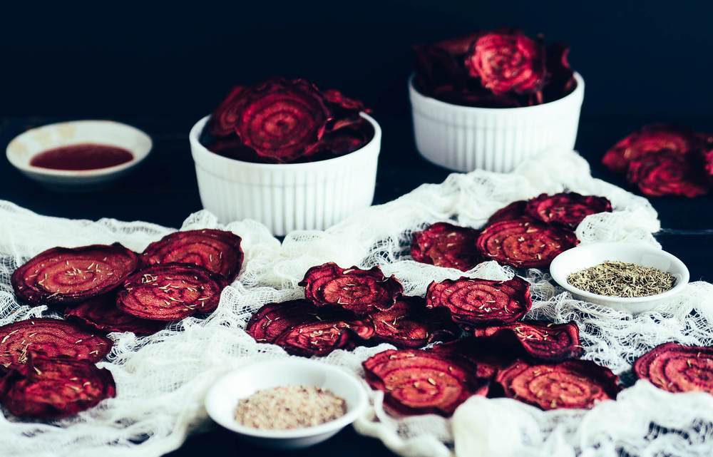 Road Trip Picnic Part 2:  Sriracha Beet Chips with Thyme | Seed Plant Water Grow