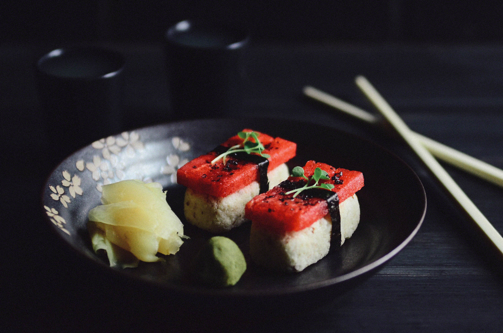 Watermelon Nigiri with Cauliflower Sticky Rice | Seed Plant Water Grow
