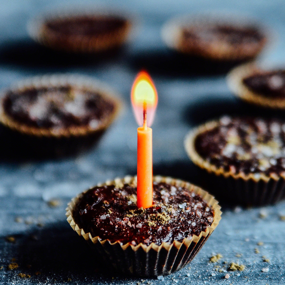 Five Spice Peanut Butter Birthday Cups with Salt and Sage | Seed Plant Water Grow