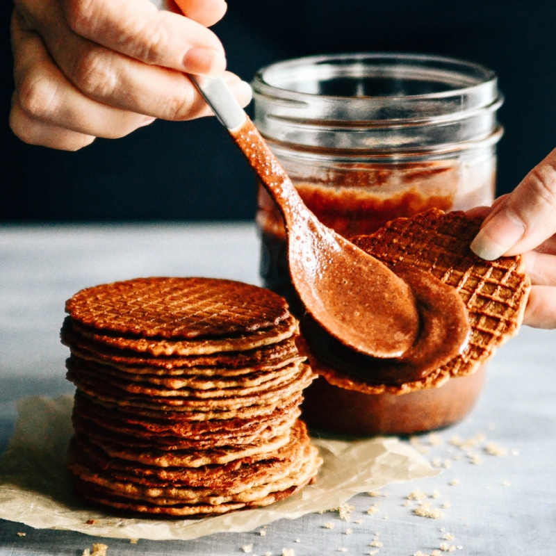 Graham Waffle Wafers and Raw Cacao Hazelnut Butter S'mores | Seed Plant Water Grow
