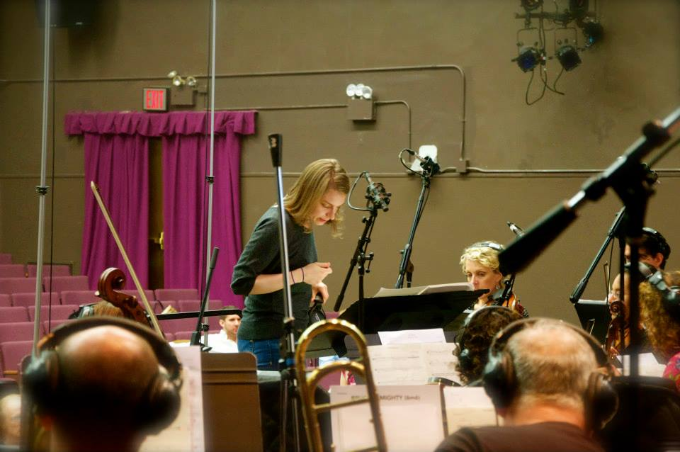 Between takes at the ASCAP Film Scoring Workshop in NYC