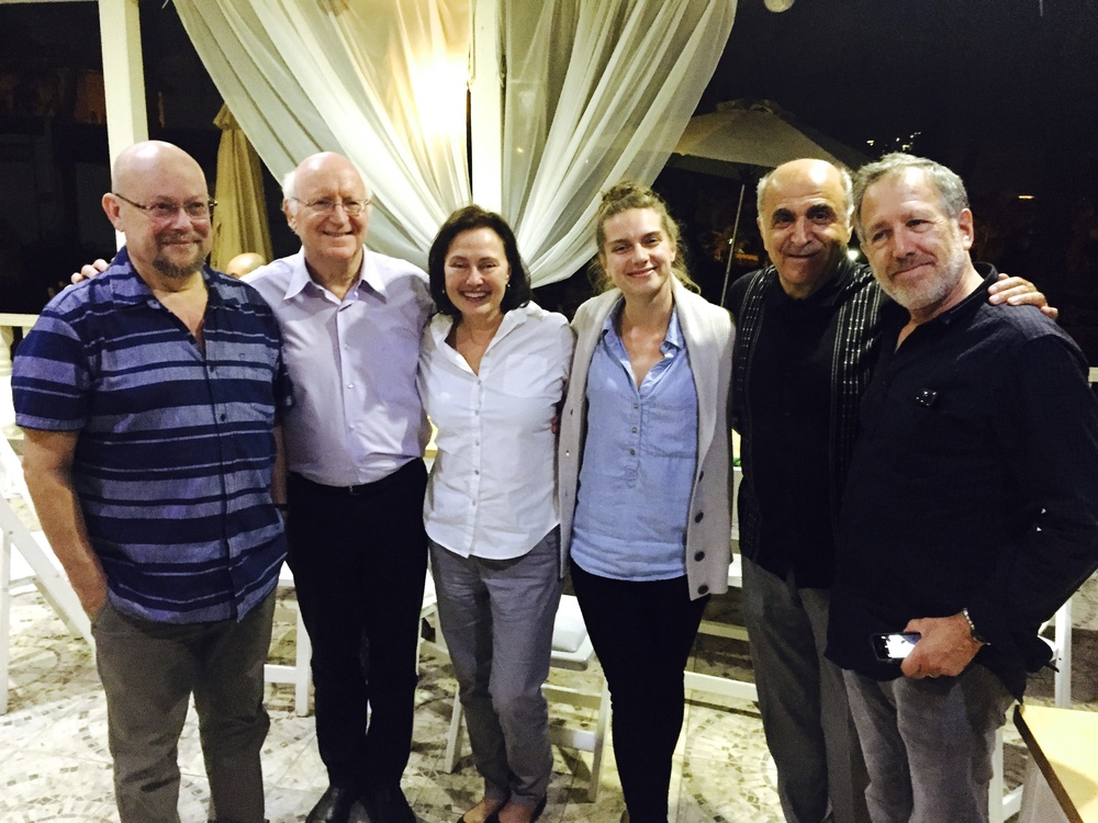 L/R: Ben Zion & Avner Biron of the Israeli Camerata,  Wendy Revel,  me!, composers Josef Bardanashvili and Peter Golub