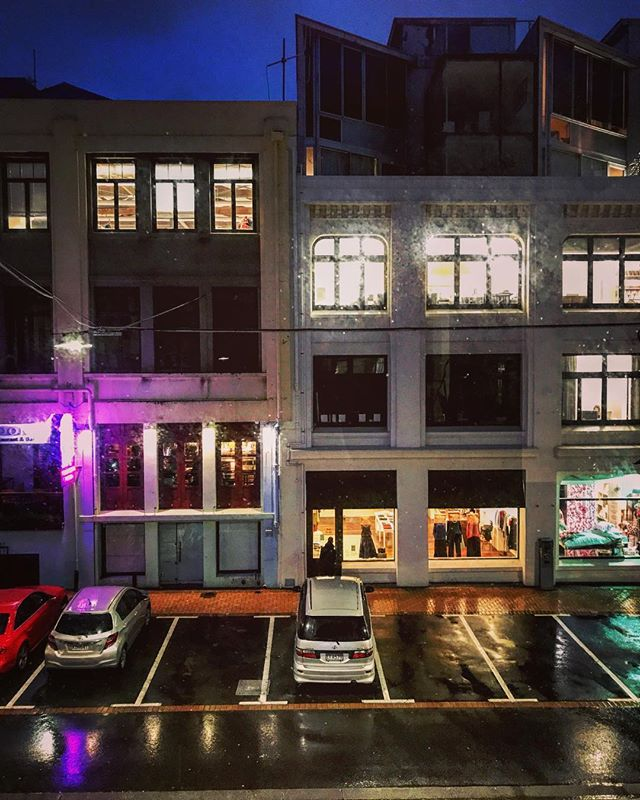 Winter windows - evening view from the Experience studio  #winter #window #wellington
