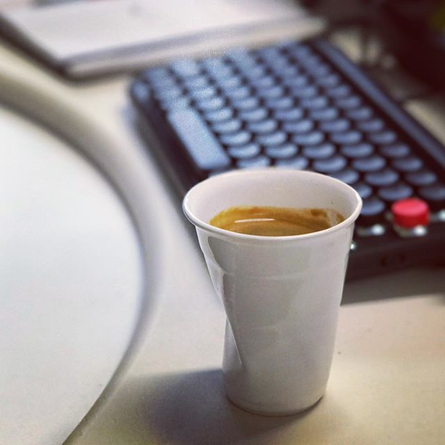 Morning caffeine intake - round 2 . . #experience #coffee #peoplescoffee #lofree #agencylife #addiction #wellington #newzealand