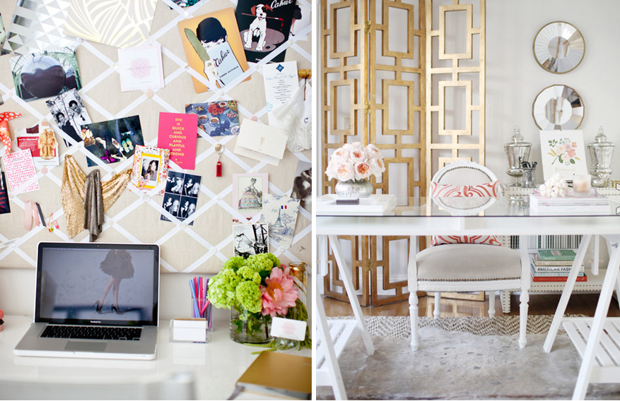pink-gold-workspace