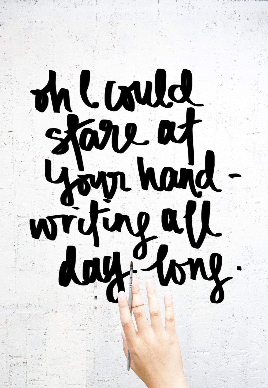 Pen & Peplum hand lettering