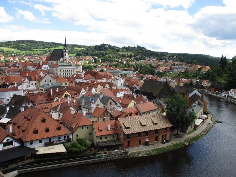 The beautiful town of Cesky Krumlov