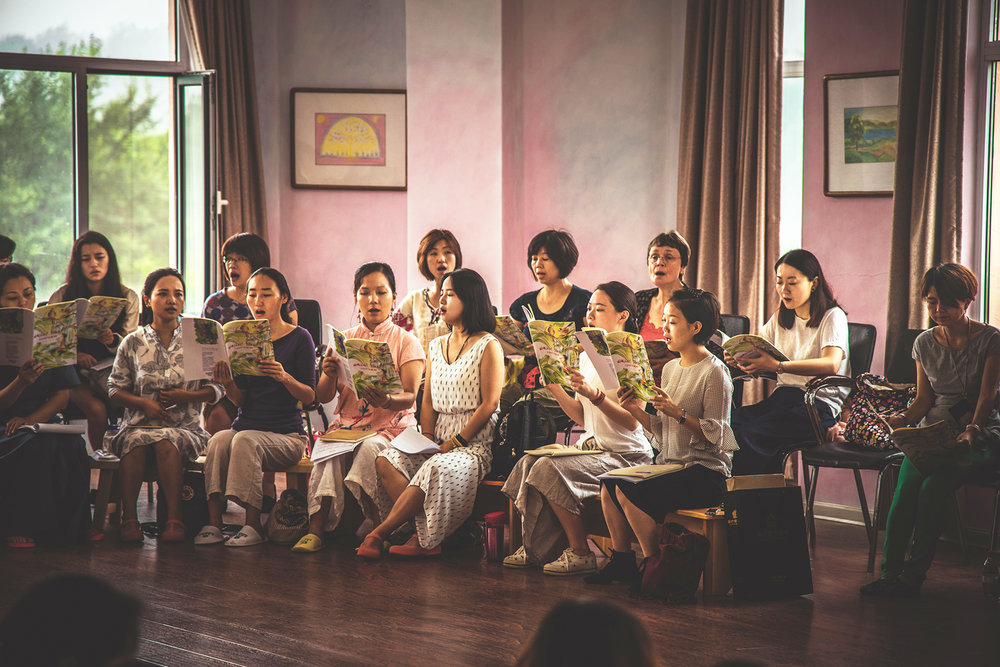 Reinhild and singing group.jpg