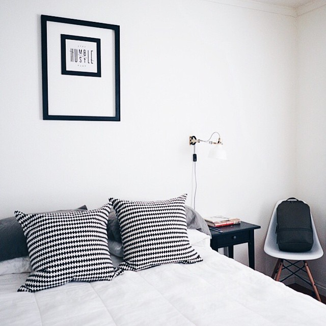 Crisp lines + fresh mindset - alarm clock = Our weekend formula..what's yours? ☼  We love seeing where you take the fictional story. 📷#repost: Thanks @mindless_scribbles for a glimpse of how you styled our original Humble/Hustle print! #fictionalsupply