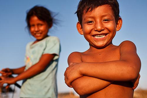 smiling boy - Pucallpa, Peru, Amazonia - Szymon Kochański