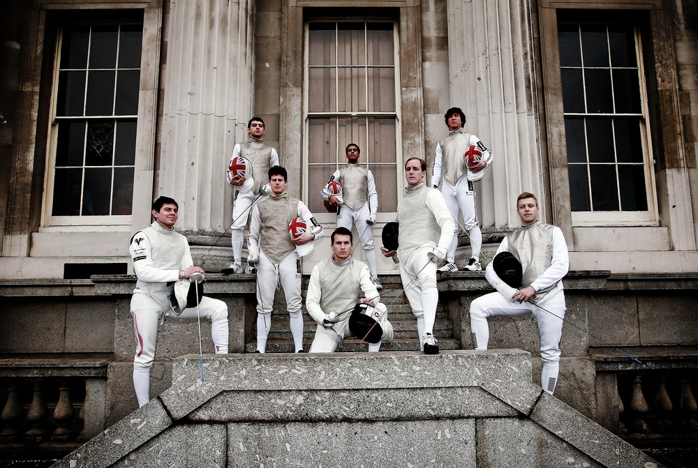 I mentioned in a previous post that the venue for my shoot with the Beazley Great Britain fencing team was picturesque which ever way you looked. So here's another example.