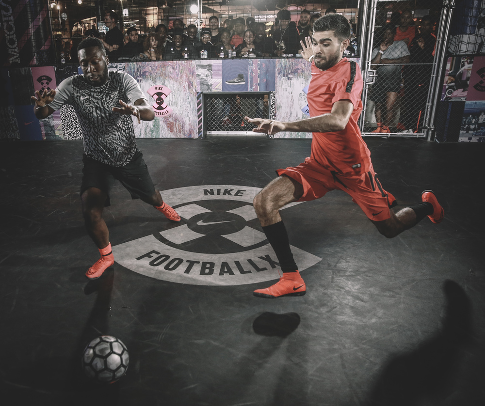Competitors from all teams gave it their all during the 3 minute matches which took place at NikeTown, London and were watched by thousands of excited shoppers