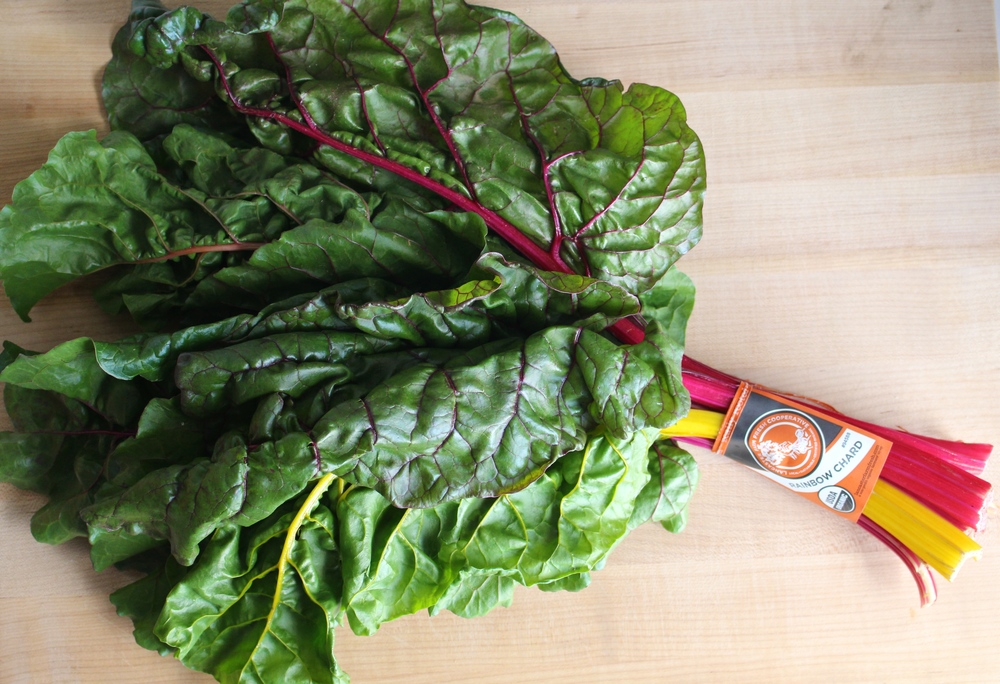 Almost too beautiful to eat, rainbow chard