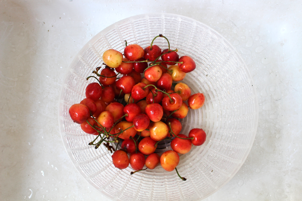 Eye-popping organic rainier cherries
