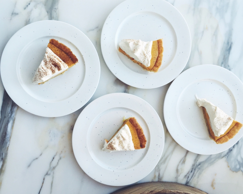 pumpking icebox pie with snickerdoodle crust via epicurious