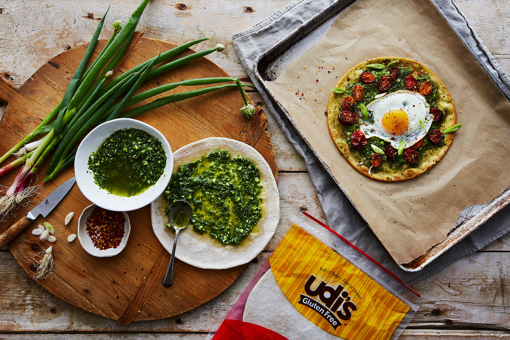 ... pizza with za'atar roasted tomatoes and a runny egg — Crunchy Radish