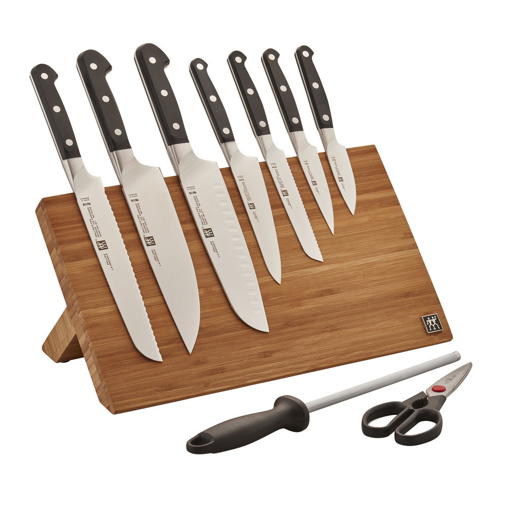 Zwilling Knife Set (the Santoku is my preferred knife to use)