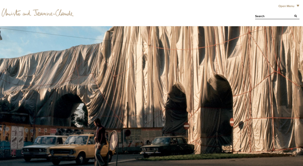 inspiration: Christo   The Wall (Project for a Wrapped Roman Wall)