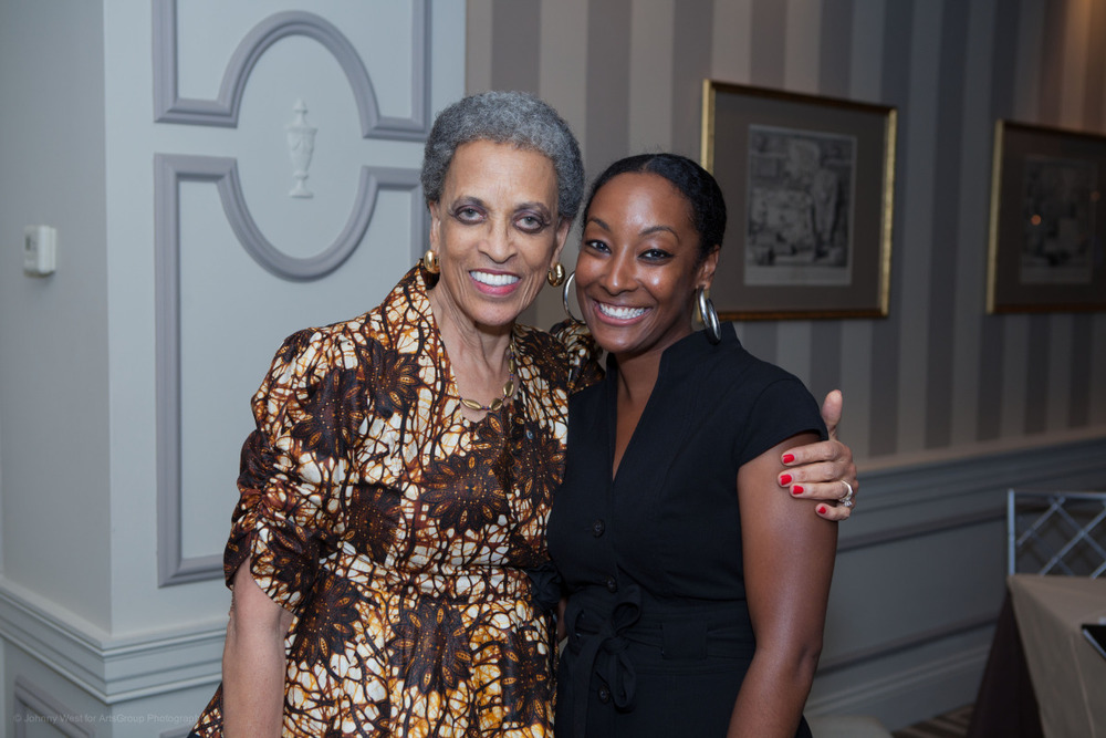 Dr. Johnnetta Cole and Volunteer Erica