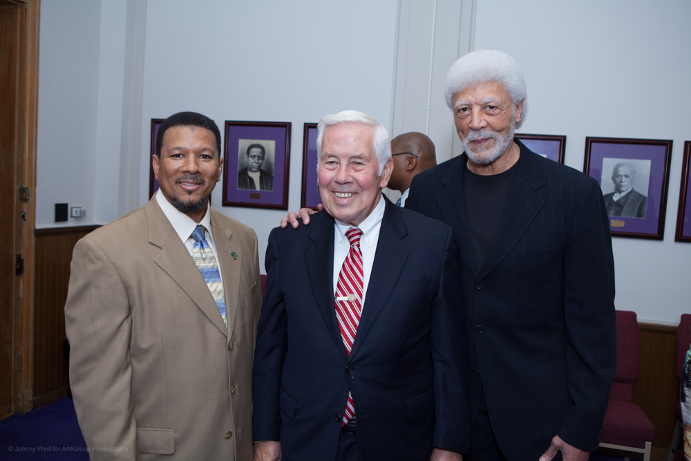 Imam Talib Shareef, Senator Richard Lugar and Congressman Ron Dellums
