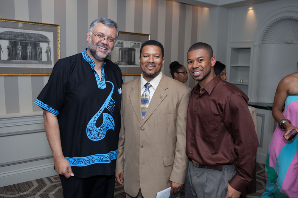 South African Ambassador Ebrahim Rasool, Imam Talib Shareef and guest