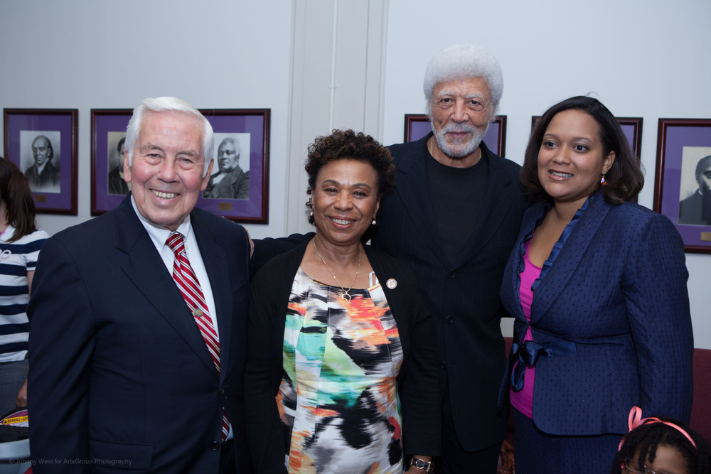Senator Richard Lugar, Congresswoman Barbara Lee, Congressman Ron Dellums and TransAfrica President Nicole Lee
