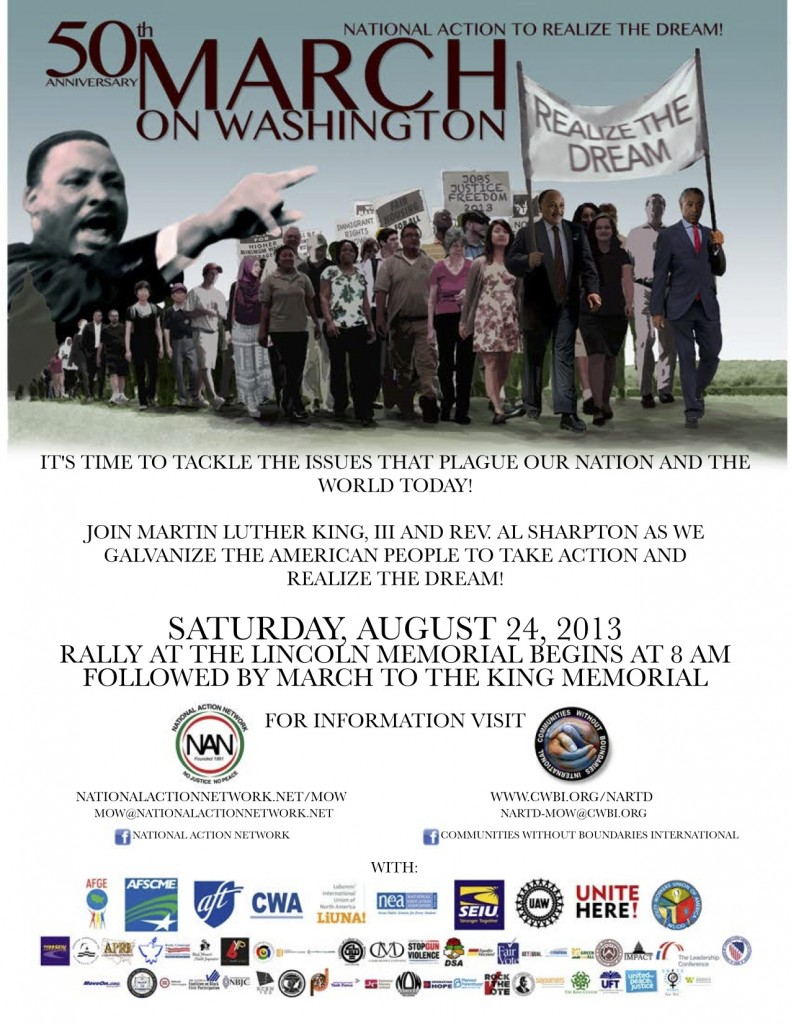 Official poster for the 50th Anniversary March on Washington