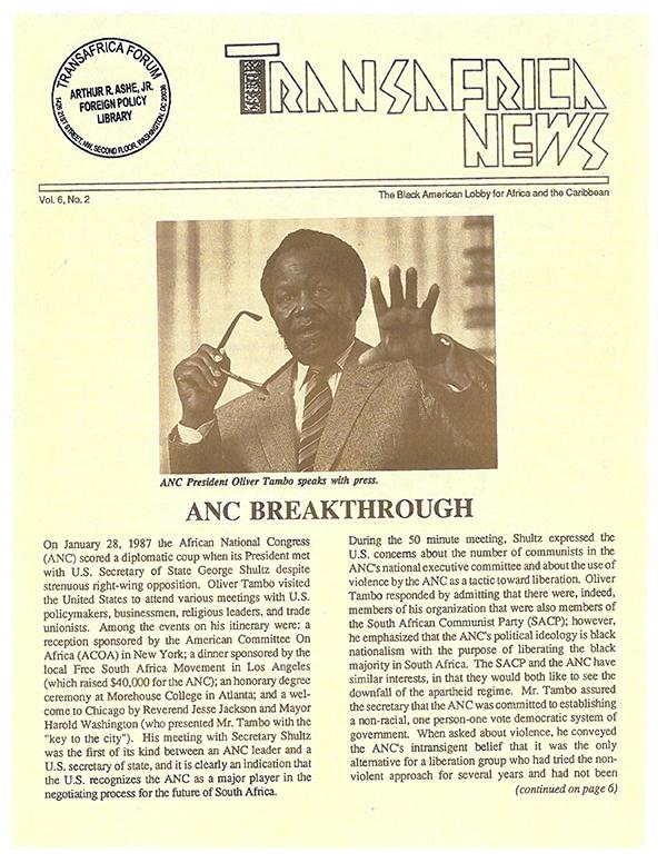 TransAfrica News Vol. 6, No. 2