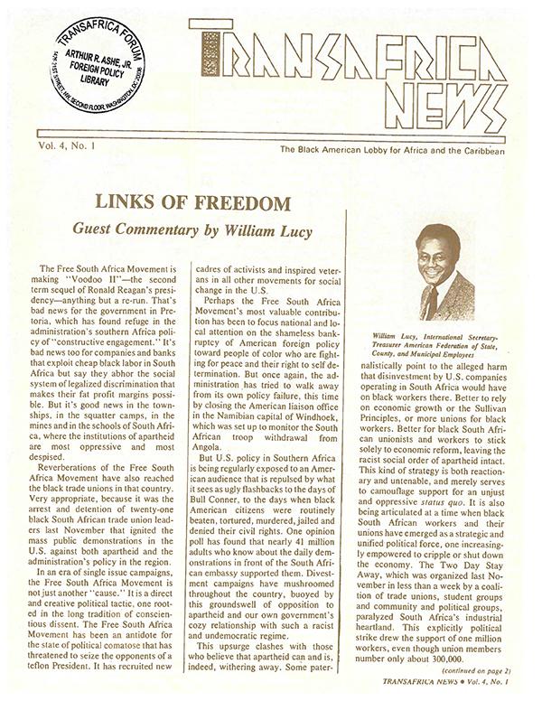 TransAfrica News Vol. 4, No. 1