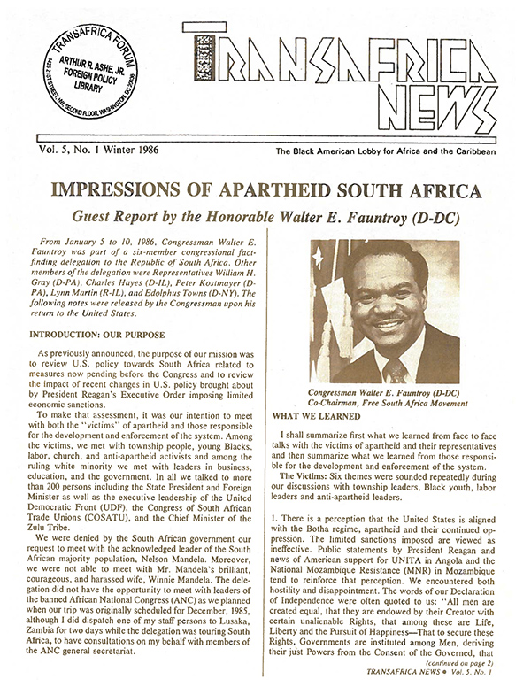 TransAfrica News Vol. 5, No. 1