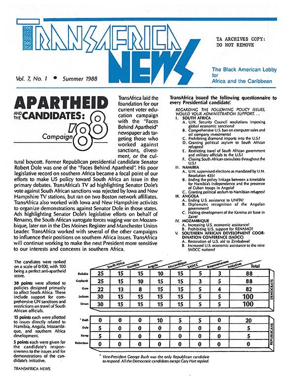 TransAfrica News Vol. 7, No. 1