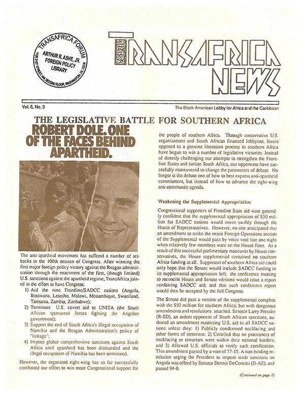 TransAfrica News Vol. 6, No. 3