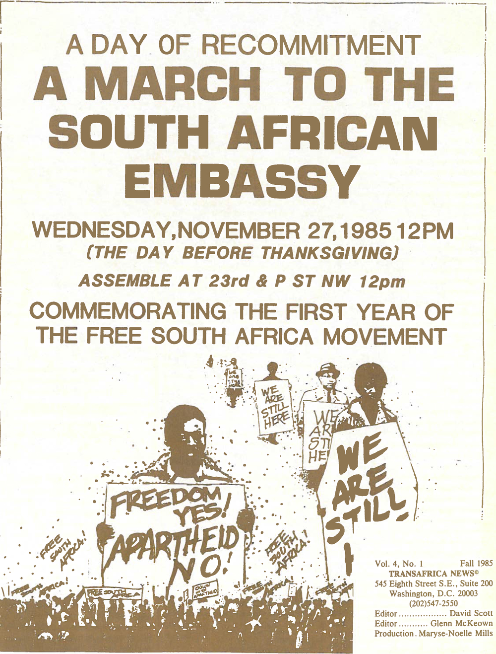 A March to the South African Embassy